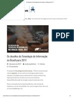Os Desafios Da Tecnologia Da Informação No Brasil Para 2017
