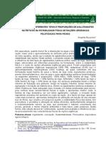 Influência de Diferentes Tipos e Proporções de Aglutinantes Nutritivos Na Estabilidade Física de Rações Orgânicas