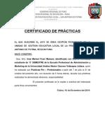 Certificado de Prácticas