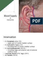 Blood Supply of External Ear