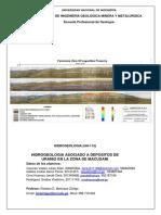 Hidrogeologia Asociado a Depositos de Uranio en La Zona de Macusani