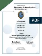 Independencia Nacional Campañas Militares y Participación Popular