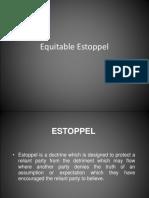 Equitable Estoppel