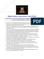 Military History Anniversaries 1101 Thru 111516