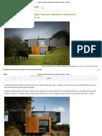 Arquiteto Contrói Casa de Campo Com Dois Contêineres Sobrepostos – CicloVivo