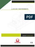 Manual MOM Grupos Electrogenos PRAMAC
