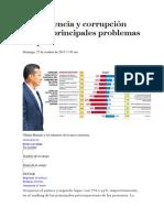 Delincuencia y Corrupción Son Los Principales Problemas Del País