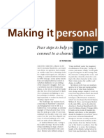 Peter King - Making it personal. Four steps to help your students connect to a character's actions.pdf