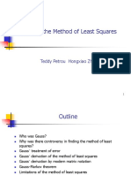 Gauss Theorm and the Method of Least Squares