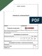 Procedimiento de Control y Recepción de Materiales