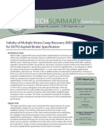 LTRC Technical summary 564 Validity of Multiple Stress Creep Recovery (MSCR) Test for DOTD Asphalt Binder Specification