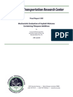 LTRC Final Report 500 Mechanistic Evaluation of Asphalt Mixtures Containing Thiopave Additives