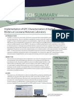 LTRC Technical Summary 505 Implementation of GPC Characterization of Asphalt Binders at Louisiana Materials Laboratory