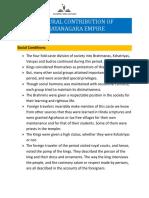 Cultural Contribution of Vijayanagara Empire