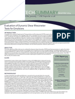 LTRC Technical Summary 519 Evaluation of Dynamic Shear Rheometer Tests for Emulsions