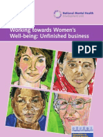 Working Towards Womens Wellbeing Unfinished Business