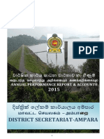 Performance Report District Secretariat Ampara 2015