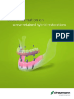 Straumann Screw Retained Hybrid Restorations