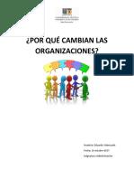 Por Qué Cambian Las Organizaciones