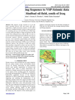 Simple Processing Sequence to VSP-Seismic data matching in Sindbad oil field, south of Iraq