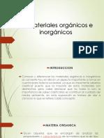 Materiales Organicos e Inorganicos