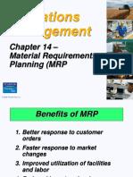 Operations Management MRP