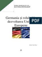 Germania Si Rolul Ei in Dezvoltarea Uniunii Europene