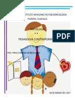 antologia pedagogia contemporanea