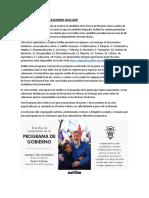 Programa de gobierno de Alejandro Guillier.