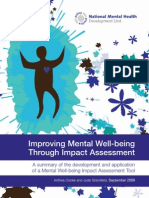 Improving Mental Wellbeing Through Impact Assessment 1