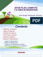 Reservoirs Operation and Sedimentation