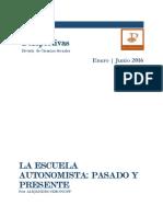La Escuela Autonomista Pasado y Presente