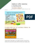 Materias Primas y Su Clasificación