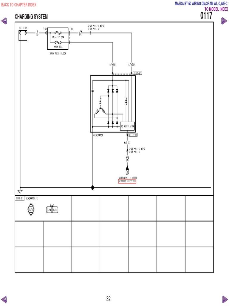 mazda bt50 wl c & we c wiring diagram f198!30!05l30, Wiring diagram