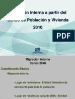 Migración Interna a Partir Del Censo de Población y Vivienda 2010 - Juan Enrique
