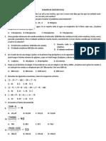 Examen de Matematicas 3p