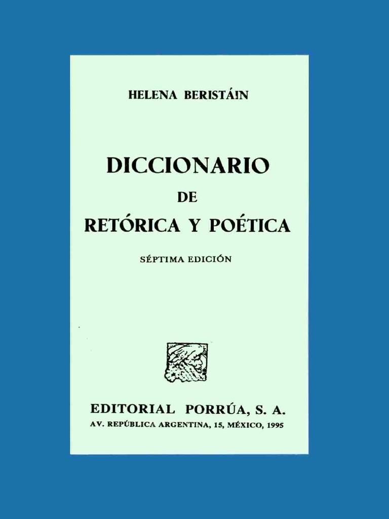 diccionario de retorica y poetica de helena beristain