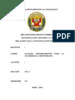 ORGANIZADOR GRAFICO SOBRE LA INVESTIGACIÓN CIENTÍFICA Y SU RELACIÓN CON LA PNP