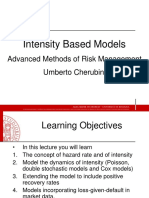 Lecture 3 - Intensity Based Models
