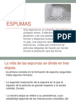 Espumas presentacion (fisicoquimica)