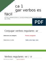 Práctica 1.Conjugar Verbos Es Fácil