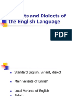 Variants and Dialects of the English Language