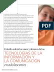 Uso y Abuso de Tecnologia en los adolescentes