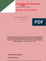 Analisis de Plan de Tesis