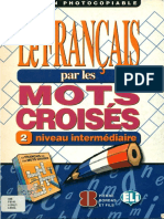 16.- Le Franais Par Les Mots Croiss 2. Intermdiaire