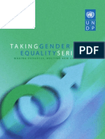 Taking Gender Equality Seriously