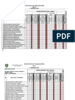 REGISTRO de EVALUACIÓN Comunicacion Rv y Plan Lector 1ero