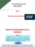 Matriz Operacional de La Variable