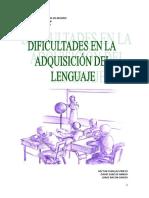 Dificultades en La Adquisicion Del Lenguaje