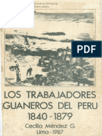1987 Cecilia Méndez Los Trabajadores Guaneros Del Perú 1840 1879
